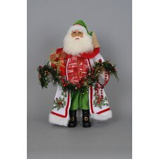 Crakewood Lighted Holly Sparkle Santa