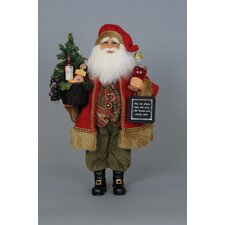 Crakewood Lighted Wine Red Santa