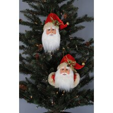 2 Piece Christmas Santa Ornament (Set of 6)