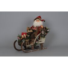 Crakewood Lighted Woodland Sled Santa