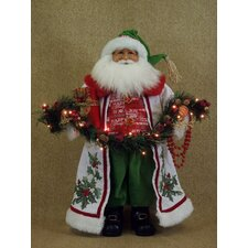 Crakewood Lighted Christmas Joy Santa Claus Figurine