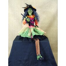 <strong>Karen Didion Originals</strong> Spooktacular Halloween Glitzy Witch Figurine
