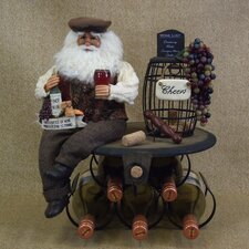 Crakewood Santa Claus 5 Bottle Tabletop Wine Rack