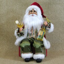 <strong>Karen Didion Originals</strong> Crakewood Margarita Santa Claus on Base Figurine