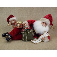 <strong>Karen Didion Originals</strong> Crakewood Santa Lying Down with Toys