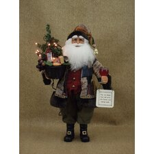 Crakewood Lighted Wine Basket Santa