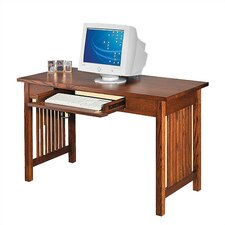 "Craftsman Home Office 50"" W Single Drawer Library Computer Desk"