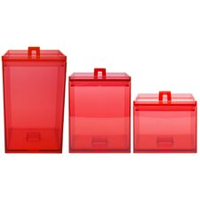 Meeme 3 Piece Canister Set