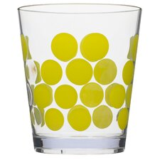 1rDot Dot 14 oz. Double Old Fashioned Glass (Set of 6)