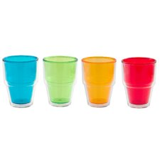 Pint 14 oz. Double-Walled Double Old Fashioned Tumbler (Set of 4)
