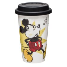 Mickey Dishwasher Latte Mug with Silicone Lid