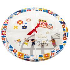 "<strong>Zak!</strong> Small World 8.5"" Round Section Plate (Set of 2)"