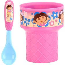 Nickelodeon Dora the Explorer 2 Piece Ice Cream Set