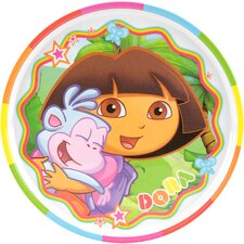 <strong>Zak!</strong> Nickelodeon Dora the Explorer Rimmed Plate