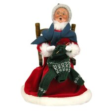 Mrs. Claus Knitting Figurine