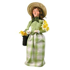 Woman with Daffodils Figurine