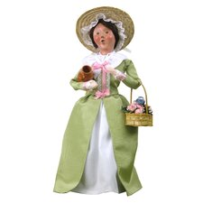Colonial Flower Woman Figurine