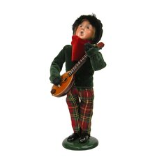 Boy with Musical Instrument Figurine