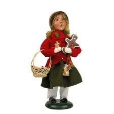 African American Girl with Gingerbread Figurine