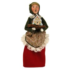 African American Woman with Gingerbread Figurine