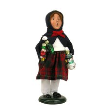 Girl with Glass Ornaments Figurine