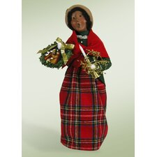 African American Decorating Woman Figurine