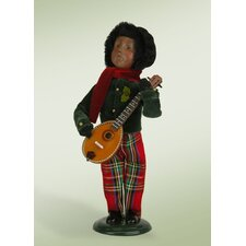 African American Boy with Musical Instrument Figurine