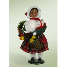 African American Decorating Girl Figurine