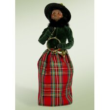 African American Woman with Musical Instrument Figurine