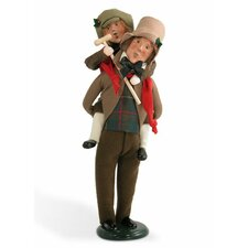 Bob Cratchit and Tiny Tim Figurine