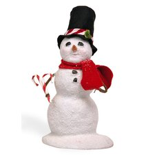 Small Snowman with Candy Cane