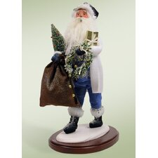 Walking in a Winter Wonderland Santa Figurine