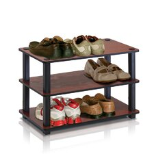 <strong>Furinno</strong> Turn-S-Tube 3-Tier Shoe Rack