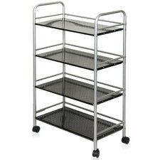 "Xiannan L60 Metal 4-Tray 39"" Rolling Cart"