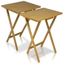 EASi Folding TV Tray Table Set