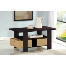<strong>Furinno</strong> Espresso Living Set Coffee Table