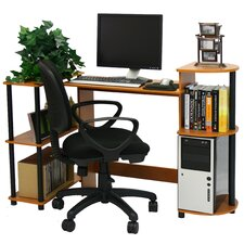 Compact Computer Standard Desk Office Suite with Optional Task Chair