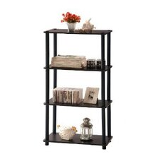 4 Tier Rack Bookshelf Bookcase Display Storage Cabinet
