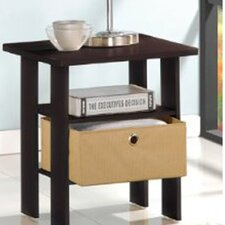 Espresso Living End Table