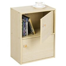 PASiR 2 Tier Bookcase with 2 Door and Round Handle