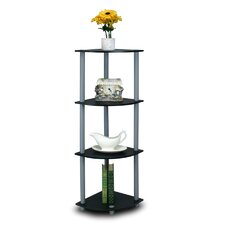 <strong>Furinno</strong> Turn 'n' Tube 4 Tier Corner Display Rack Shelving Unit