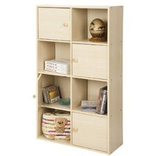PASiR 4 Tier Shelf with 4 Doors and Round Handles