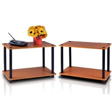 Turn 'n' Tube 2 Tier Shelves/End Table (Set of 2)