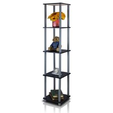 <strong>Furinno</strong> 5 Tier Corner Square Rack Display Shelf
