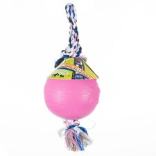 Pink Durable Ball Dog Tug Toy