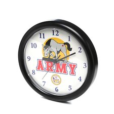 "<strong>Trademark Global</strong> 9.75"" Deluxe Chiming US Army Wall Clock"