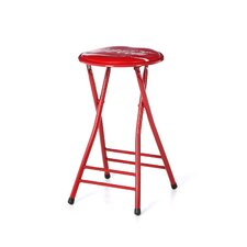 <strong>Trademark Global</strong> Coca Cola Dynamic Ribbon Device Folding Bar Stool with Cushion