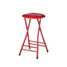 Coca Cola Delicious Refreshing Folding Bar Stool with Cushion