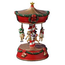 Xmas Snowmen and Reindeer Carousel