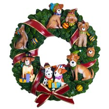<strong>Trademark Global</strong> Holiday Dogs Musical Wreath